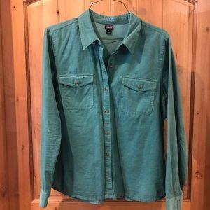 Patagonia corduroy button down shirt